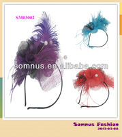 Somnus Fashion Ladies' Feather Hair Fascinator