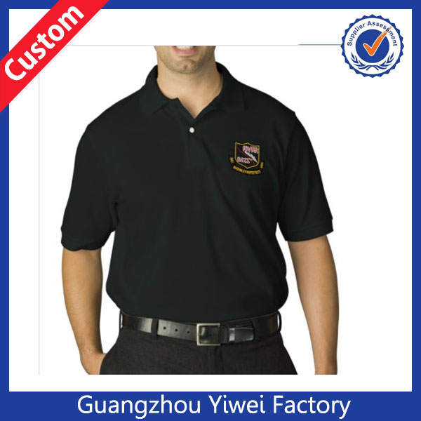 Custom RIVER RAT Embroidered Dark Polo Golf Shirts For Men