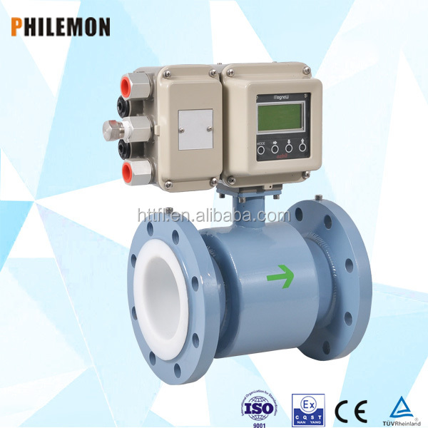 High performance electro magnetic industrial water flow meter