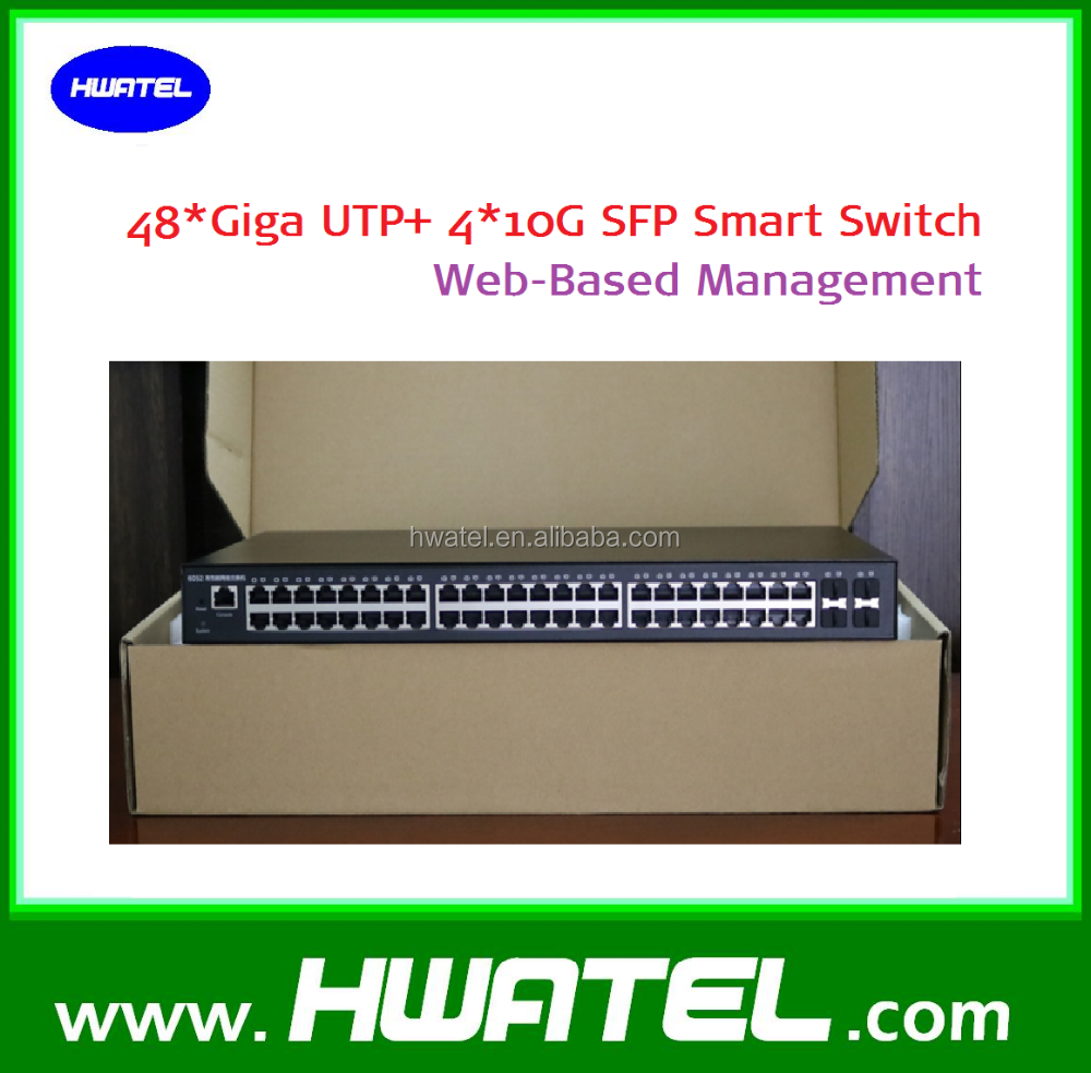 48 port giga fiber switch with max 4*10G uplink SFP+ ports <strong>L2</strong> management
