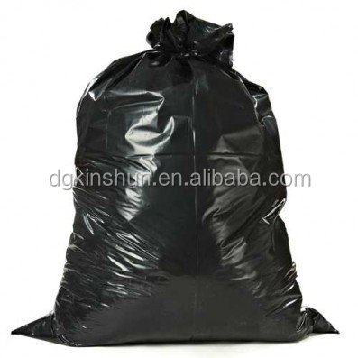 Plastic Garbage 55-60 Gallon Trash Bags, 38W x 58H, 1.2 Mil, Black, 100 / Case