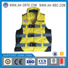 Solars approved Yellow Offshore Marine light PFD foam kayak drifting life jacket for water park