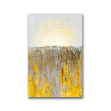 High Quality Yellow Abstract Canvas Art Hand Painted Decor