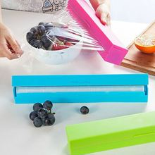 Hot Selling 31.7cm*6.4cm*6.2cm Plastic pp+ Stainless Steel Food Dispenser Foil Wax Paper Cutter Film Cutter 3 Colors