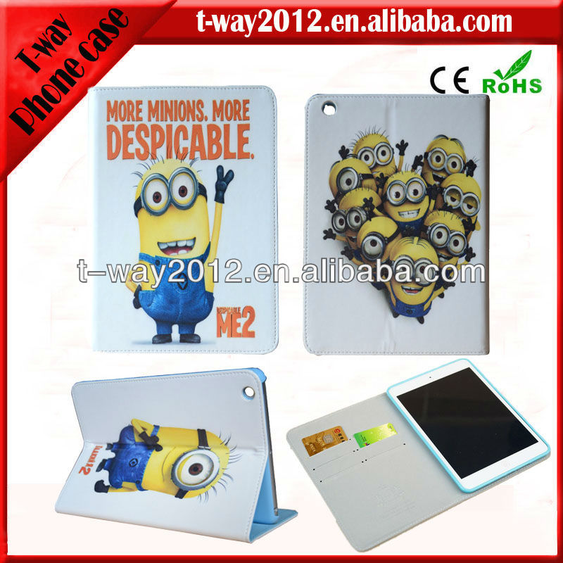 for ipad cover/minion case for ipad