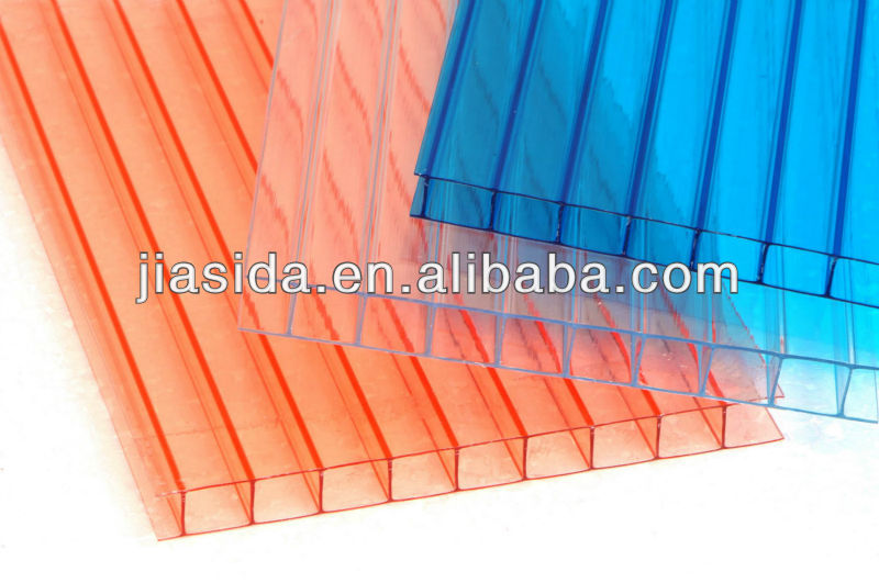 JIASIDA tinted polycarbonate sheet,colored polycarbonate sheet,color pc hollow sheet