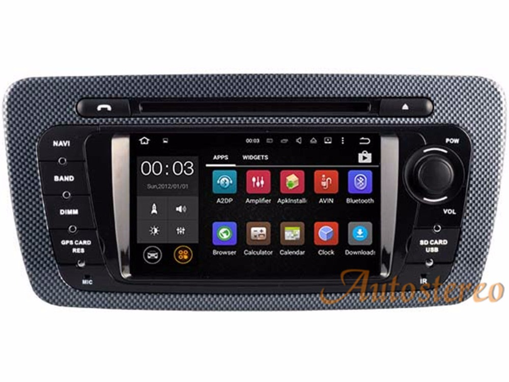 Quad Core Android 5.1.1 Car DVD GPS Autoradio Head unit for SEAT IBIZA 2009-2013 GPS Radio Car DVD Player sat nav