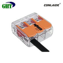 Wago Original Product 3 Pin Quick Connect and Disconnect wire Connector