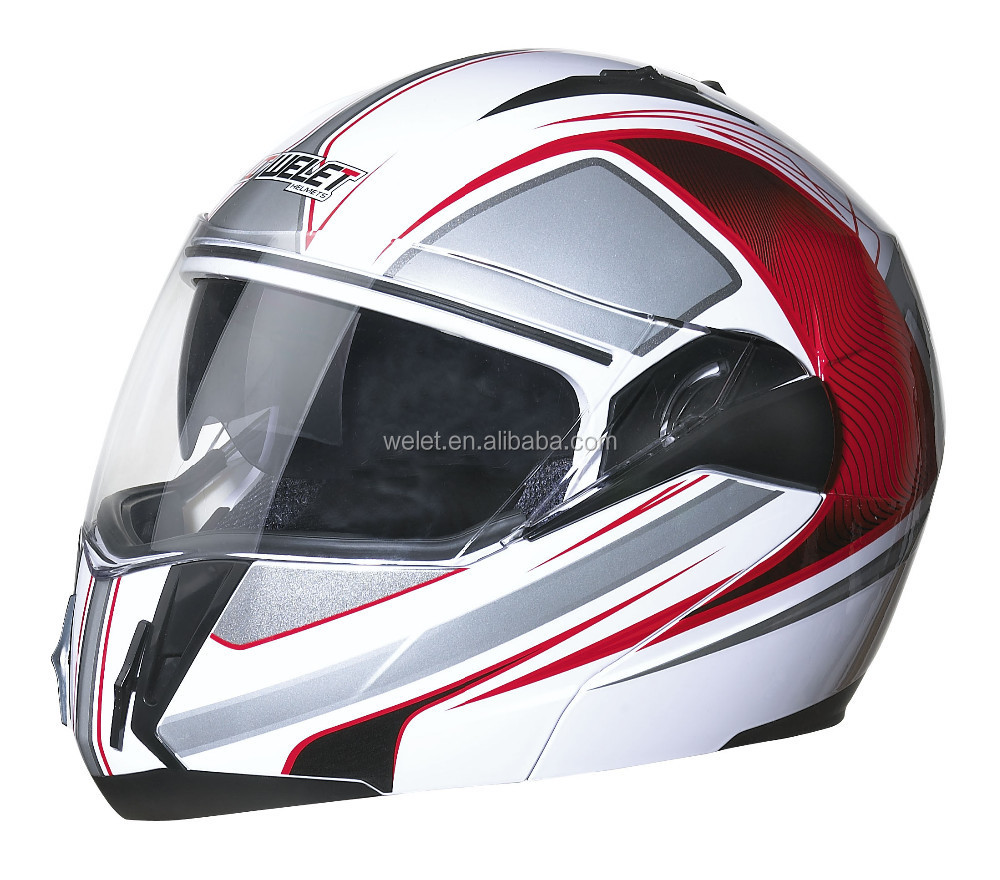 DOT flip up helmet WLT-168 BLACK