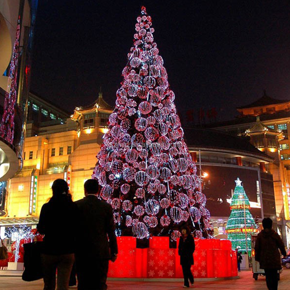 Outdoor led christmas tree artificial wedding tree for for Giant outdoor christmas decorations