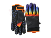 Colorful professional motorbike sports gloves