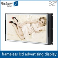 Flintstone 32 inch marketing products, non-stop playing full hd video screen, commercial open frame advertisement screen