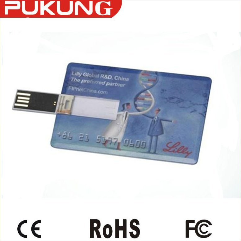 factory price full capacity 4GB-16GB usb 2.0 Credit card usb flash drive for Advertisement