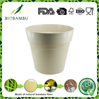2016 new trendy products white bio bamboo fiber plant pots