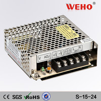 CE ROHS 15W 0.7A 24v led driver S-15-24 power supply 24 v