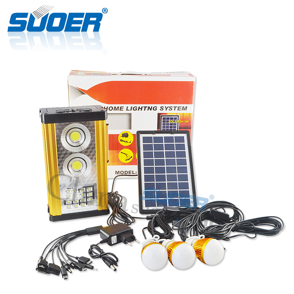 Suoer 2016 new design solar power supply home lightng system with solar panel