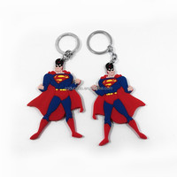 2D Souvenir key chain anime super hero soft PVC keychain rubber key ring