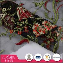 Top selling elegant embroidery mesh george lace fabric for christmas