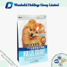 High quality plastic dog food packaging stand up pet food bag with zipper