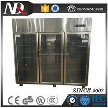 Stainless Steel 3 Glass Door Commercial Refrigerator