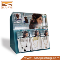 Cardboard Counter Top Jewellery Display Units For Retail Store