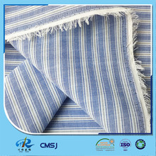 Chinese factory polyester cotton 45s yarn dyed striped fabric