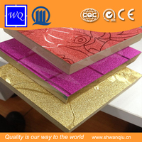 Waterproof / Fireproof Aluminium Coating MDF for Cabinet