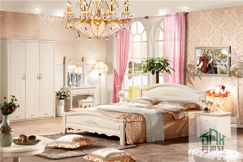 Bedroom Furniture Malaysia solid wood bedroom set ha-829# 1.8m bedroom set malaysia antique