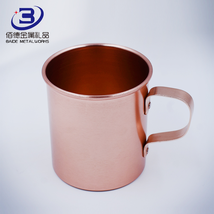 wholesale frosted copper disposable beer mug