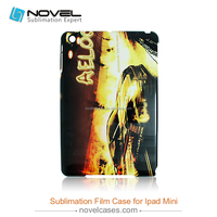 3D sublimation film case for iPad Mini, blank film case for iPad Mini