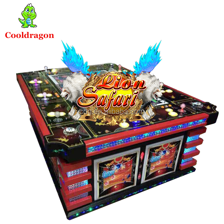 Lion Strike TM Skilled Fish Hunting Video Arcade Game Machine Table By Fish Game Cooldragon