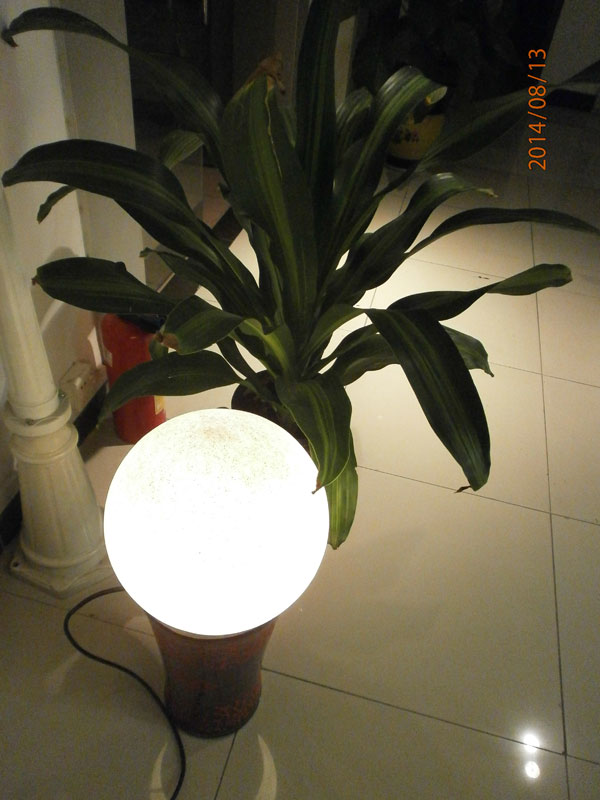 20 inch polycarbonate sphere outdoor IP67 Stone Look lights ball sphere light