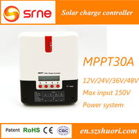 PC mornitoring RS communication and matched software solar charge controller mppt 30a 48v