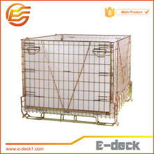 E-DECK Warehouse Storage Euro Wire Mesh Steel Pallet Cage
