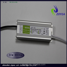 wholesale high power 80w waterproof constant current LED power supply 1.8a/2.1a/ 2.4a 30~36v ip67 withCE&ROHS