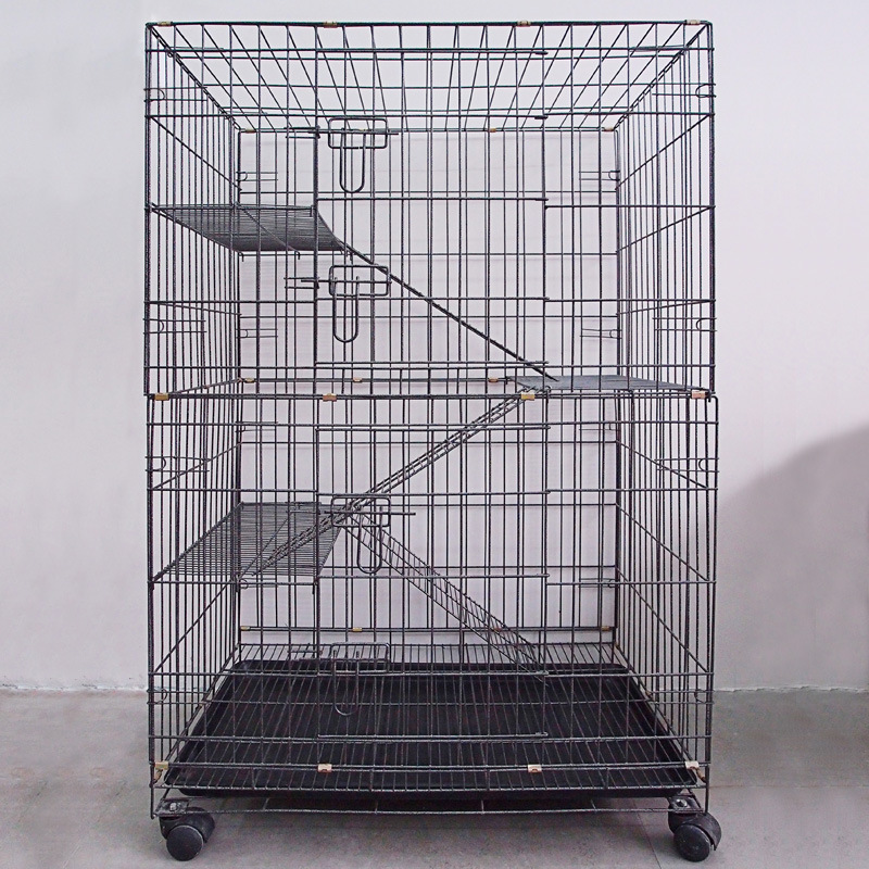 New Big Middle Small Iron Wire Cat Cages Pet Breeding Cages