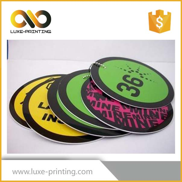 Creative designed half round paper hang tag for t-shirt