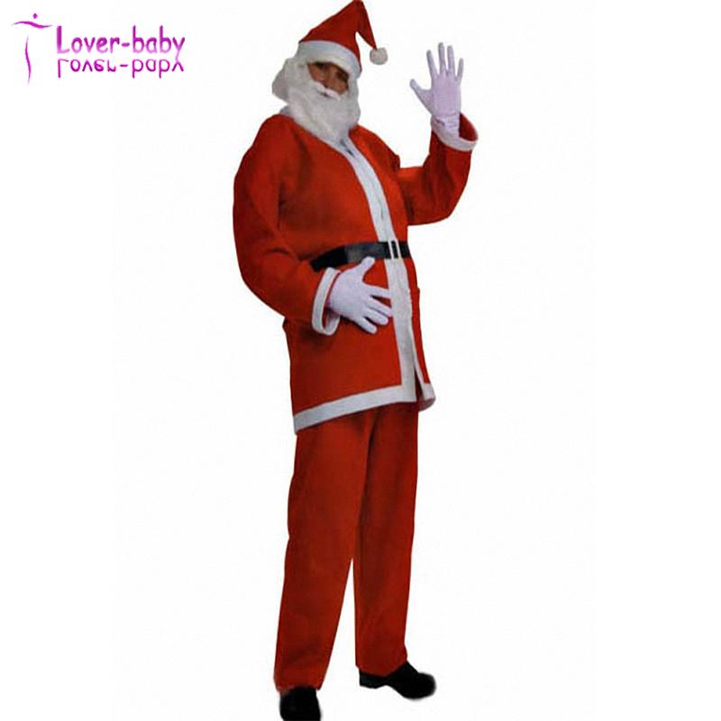 Mejores deseos rojo blanco hombres Claus Navidad traje con sombrero ...