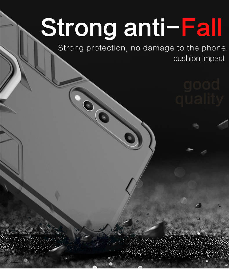 Metal finger ring holder case kickstand tpu and pc back cover for Huawei  honor 8X MAX case