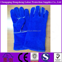 "14"" Size safety cow split leather welding glove"