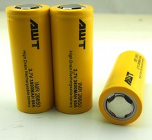 china suppliers awt imr 26650 3800mah 60a 3.7v li-ion rechargeable battery electric scooter electric bike electronic cigarette