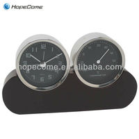 (W2902) Modern decorative wood desk clock with temperature from China