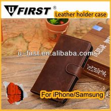 New arrival leather flip cover case for samsung galaxy note 3 wallet case