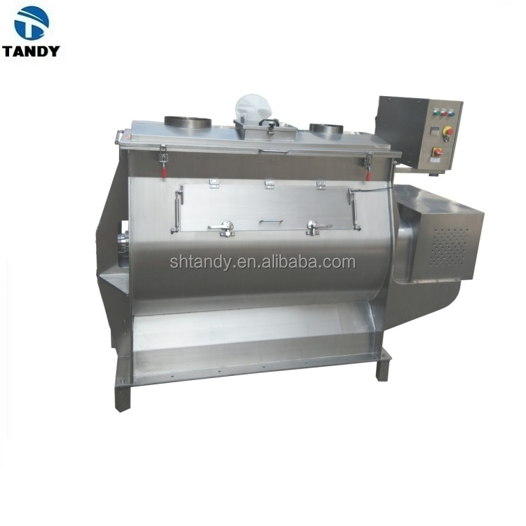 Shanghai factor SUS304 /316 food paddle mixer with jacket / single paddle blender with heater