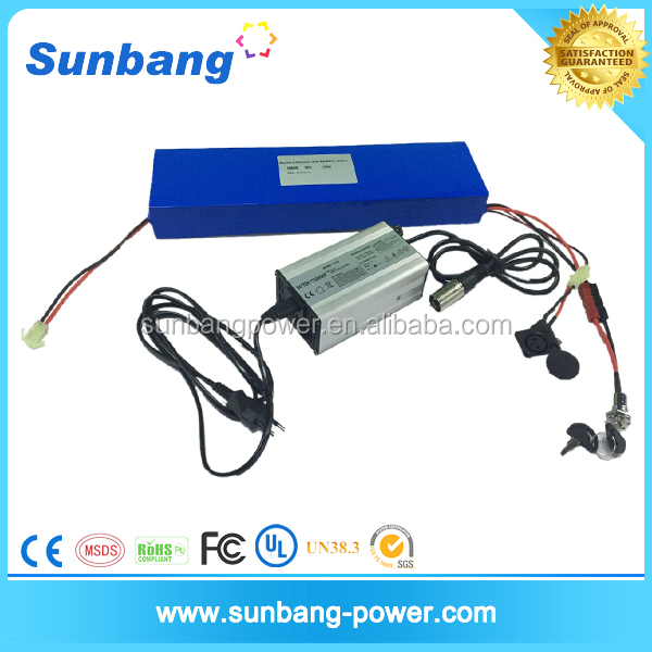 Factory directly sale customized 36v 10Ah li ion electric bike battery with samsung cell