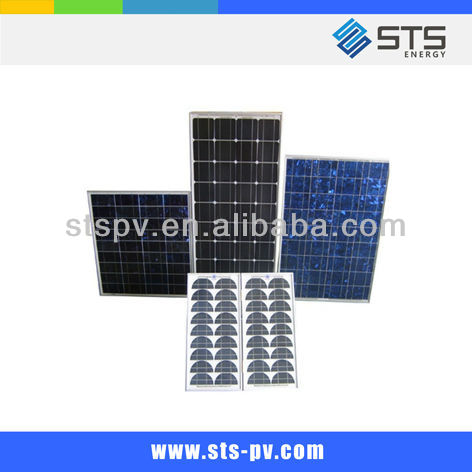 130W poly solar panel module with TUV certificate