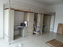 Ningbo CE dormitory bunk bed with locker and desk