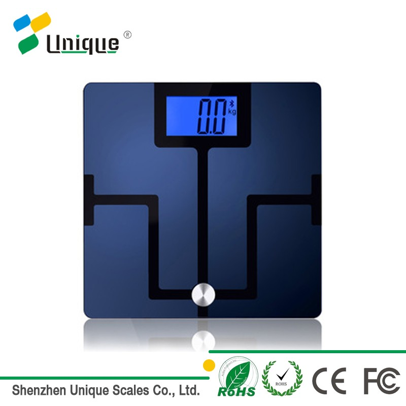 China Good Quality Cheap household body composition analyzer body fat scale for android/iOS smartphone