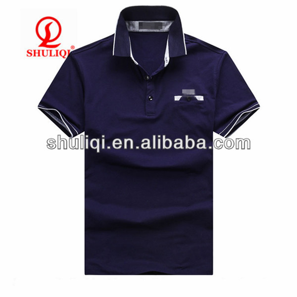 high quality latest design men's combined fabric polo