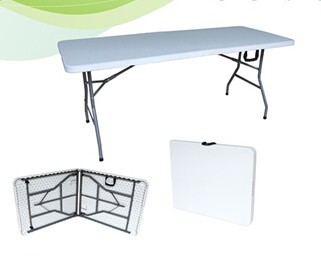 wholesale 6ft rectangle plastic folding bench table